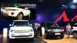 Dicolor's M-Series LED Display at Land Rover Product Presentation