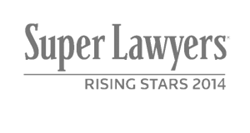 Super Lawyers Rising Stars 2014 Logo - The Law Offices of Jerod Gunsberg