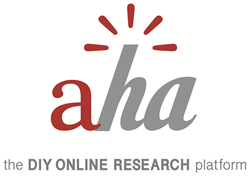 Aha! Qualitative Online Research Platform