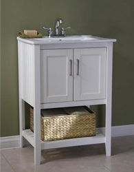 White 24″ Sink Vanity From Legion Furniture WLF6020-W-BS