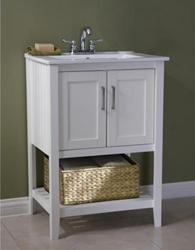 White 24 Sink Vanity From Legion Furniture Wlf6020 W Bs