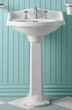 China Small Traditional Pedestal From Whitehaus AR814-AR815-WH