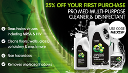 pro med multi-purpose cleaner & disinfectant