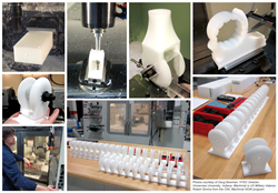 Curbell Plastics provided material for fabricated prosthetic components