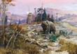 "A new C.M. Russell ""Harmless Hunter"" exhibition is on display at the National Museum of Wildlife Art through August 17, 2014. (Charles M. Russell (United States, 1864 - 1926),To the Victor Belong the"