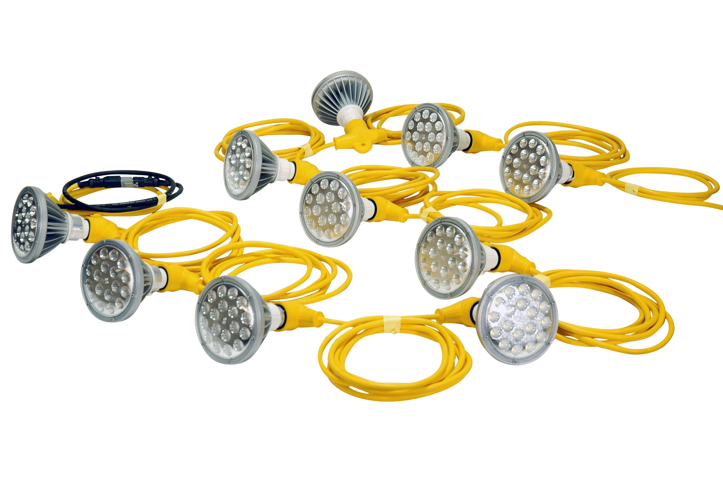 String Lights For Construction Sites : 250 Watt Temporary Construction LED String Lights Released by Larson Electronics