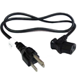 Left Angle Power Cord (NEMA 5-15P to C13)