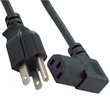 Right Angle Power Cord ( IEC320 C13 to NEMA 5-15P)