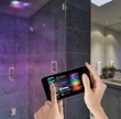The Solitude Mobile Application allows users to control all functions of their steam shower systems (including temperature settings, light and music settings and more) via handheld  mobile devices.