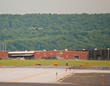 The Racing Aces about to land at the Air Race Classic terminus in Capital City Airport in New Cumberland, Pennsylvania on Wednesday, June 19, 2014.