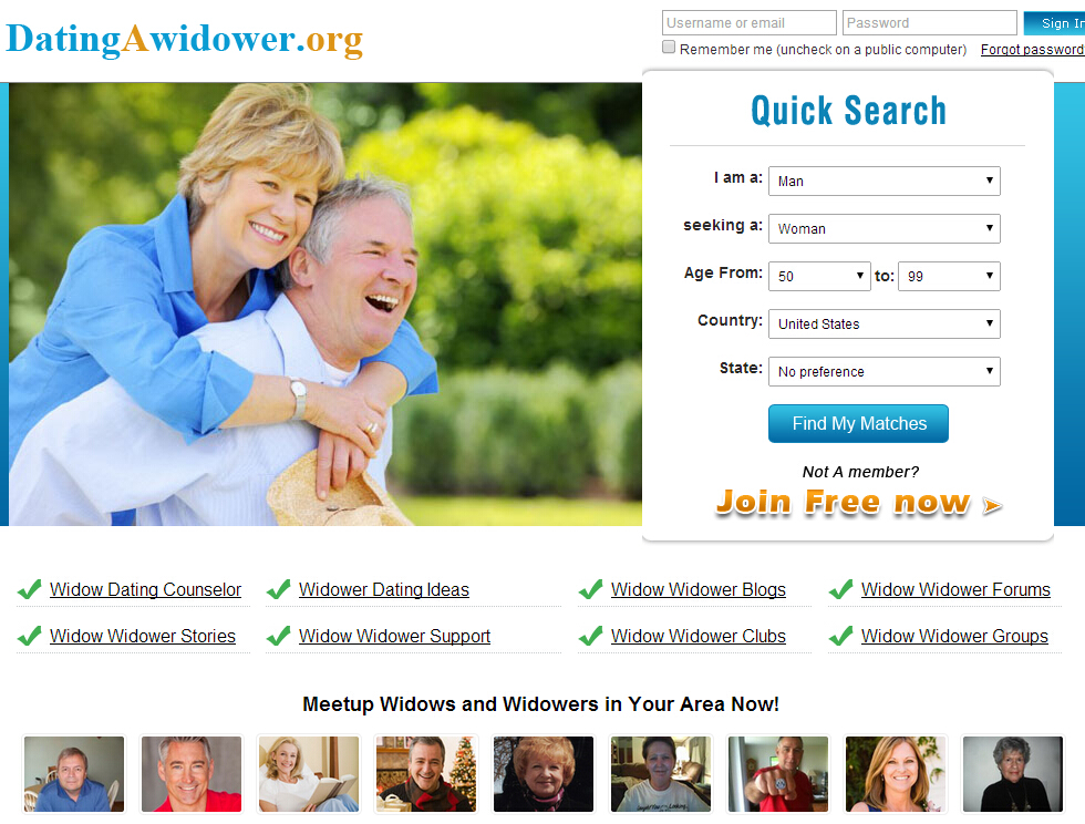 Dating site for widows only