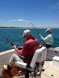 John Havlicek and Jim Lonborg fishing