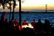 Mackinaw Mill Creek Camping has a 1 mile shoreline and views the Mackinac Bridge