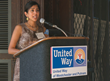 Swati Goel-Patel, a Women's Leadership Council (WLC) founding member and Scarsdale resident, shares stories with current and prospective council members about her involvement with the council.