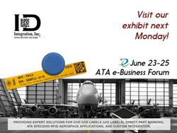 Commercial airline with RFID hardware