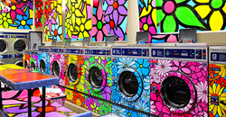 Portraits of Hope - Laundromat/Lavanderia Makeovers with Gain -- photo: Robin Erler
