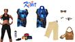 KaMIT blue leopard mullet top.