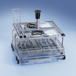 Basket, tray, and rack specially designed for ophthalmic instruments