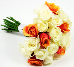 London flowers. Apricot and Cream. London flowers online - UK florists online