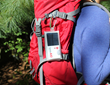 LuminAID solar lights pack flat and are lightweight for easy carrying and charging on-the-go.