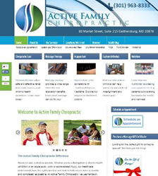 Chiropractor in Gaithersburg, MD - Active Family Chiropractic - New Website
