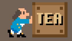8-Bit Ben Franklin with a box of tea
