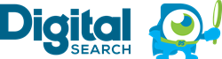 Digital Search Logo with DS Man