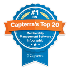 Capterra membership software badge