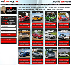 Picture of Sue baker's car review page on the weloveanycar.com car review site