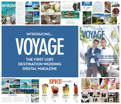 first LGBT same sex destination wedding digital magazine romance travel