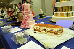 Aphoto of cakes on display