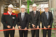 Official inauguration of the new production line for Chloroprene Rubber in Dormagen, Germany: (from left) Ralf Tappe, Site Manager, Board member Werner Breuers, Stefan Rittmann, Head of Business Line Chloropren Rubber, Jan Paul de Vries, Head of High Performance Elastomers business unit. Photo: LANXESS AG