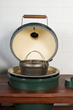 Big Green Egg Grill with Cast Iron Pot