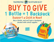 "Nordic Naturals® ""Buy to Give"" Campaign Offers a Backpack Full of School Supplies to a Child in Need for Every Bottle of Product Sold"