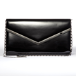 Jill Milan Pacific Heights Clutch in black faux patent