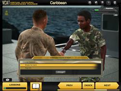 Interactive scenario from VCAT Caribbean