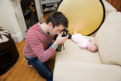 how to take baby pictures at your own home professionally