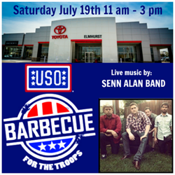 Elmhurst Toyota Hosts USO BBQ for the Troops