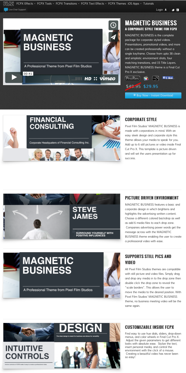 announcing magnetic business a new template from pixel film studios
