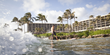 Surfing off the point at Turtle Bay Resort.