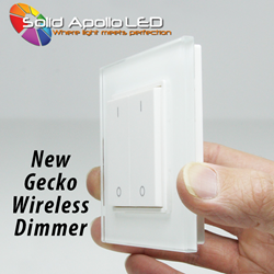Gecko Wireless 2-Zone LED Wall Dimmer