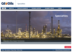 Q8Oils has published a new website for its Q8 Specialties division