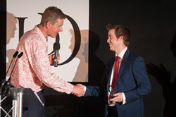 Andrew Robinson receiving his IoD South West regional award