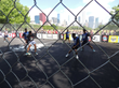 Chicagoland FIFA World Cup Fans Play Street Soccer on Sport Court in Grant Park