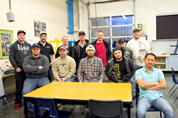 AJAC aerospace and manufacturing, machinist apprenticeship class