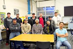AJAC aerospace and manufacturing, machinist apprenticeship class