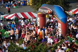 A photo of a 5K run in Shreveport