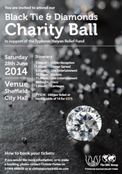 Tickets are still available for the 'Black Tie & Diamonds' Charity Ball to benefit The DDC Group Haiyan Relief Fund this Saturday, June 28 at Sheffield City Hall