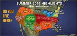 Summer Weather Map