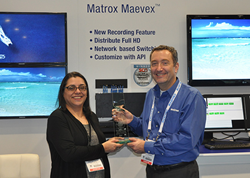 Matrox Maevex Wins 2014 SCN Installation Product Award